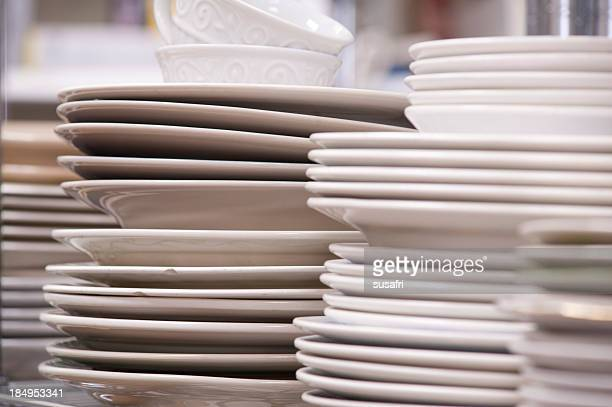 white dishes - miserly stock pictures, royalty-free photos & images