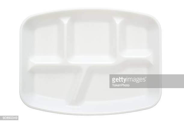 a white disposable plate with five compartments - polystyrene stock pictures, royalty-free photos & images