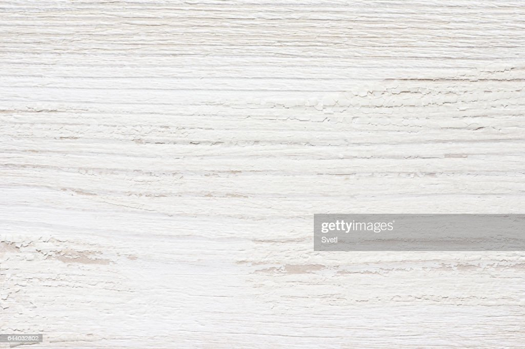 White Distressed Wood Texture Stock Photo