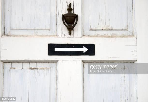 a white door at spokane, washington state, usa - door knocker stock photos and pictures