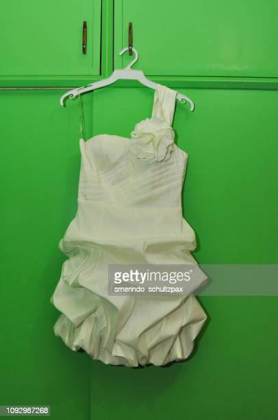 white dress - prom dress stock pictures, royalty-free photos & images