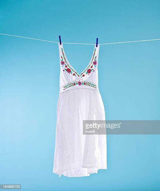 white dress - sundress stock pictures, royalty-free photos & images