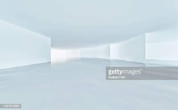 white empty room - breed stockfoto's en -beelden
