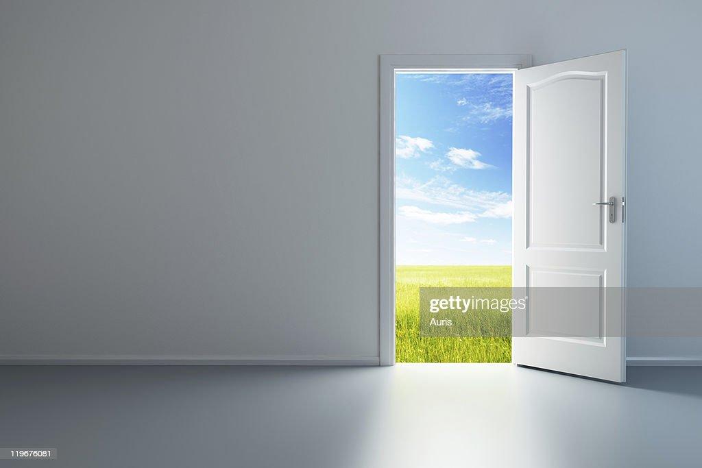 ... white empty room with opened door ... & Free open door door Images Pictures and Royalty-Free Stock Photos ...