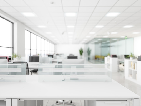 White empty surface and office building as background 1186042907