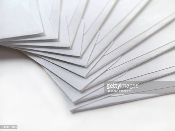 white envelopes, heavy stock - basslabbers, bastiaan slabbers stock pictures, royalty-free photos & images