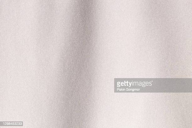 white fabric cloth polyester texture background. - 木綿 ストックフォトと画像