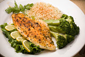 White Fish Fillet with Broccoli Spears
