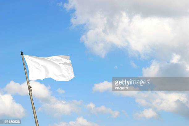 white flag - flag stock pictures, royalty-free photos & images