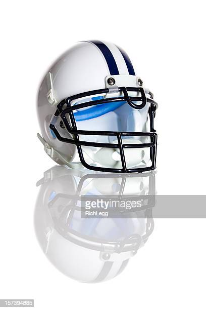 white football helmet - football helmet stock pictures, royalty-free photos & images