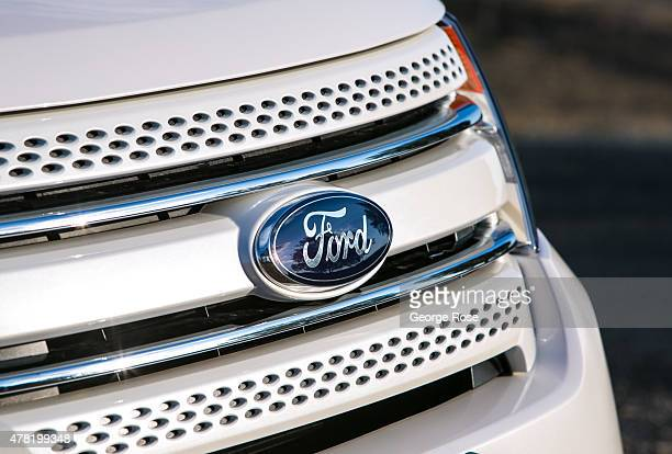 A 2015 white Ford Explorer is viewed on June 10 in Solvang California Because of its close proximity to Southern California and Los Angeles...