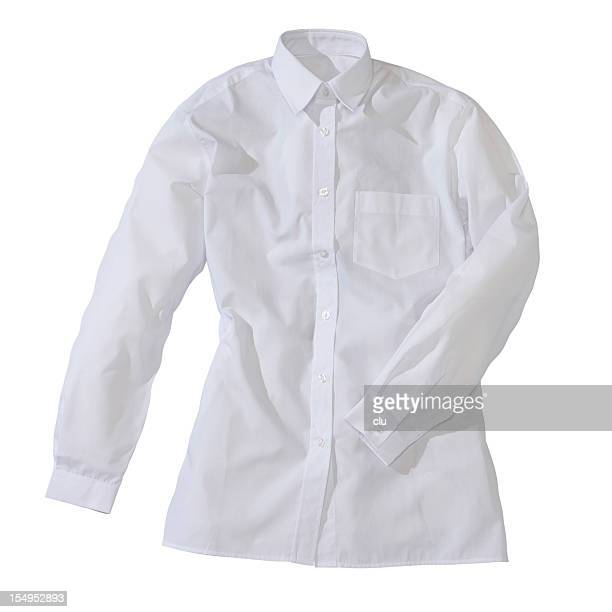 white formal female shirt - long sleeved stock photos and pictures