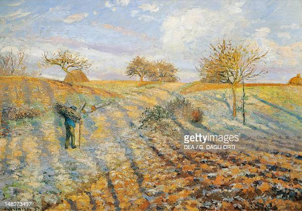 White frost by Camille Pissarro oil on canvas 65x93 cm Paris Musée D'Orsay