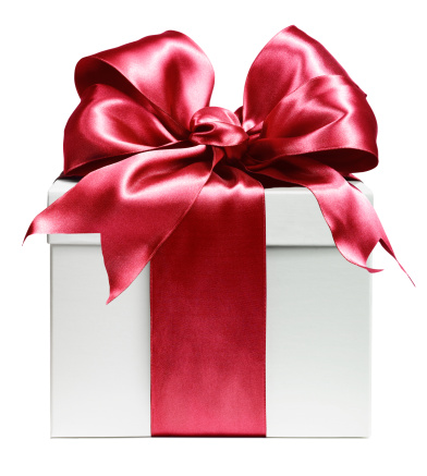 White gift wrapped in red bow - gettyimageskorea