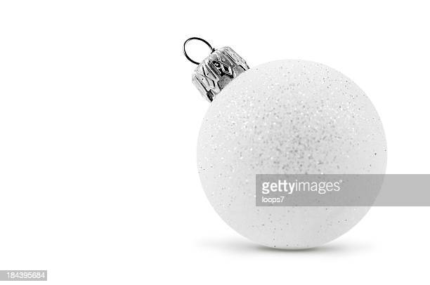 white glass bauble