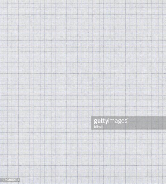 Gráfico de papel blanco con líneas azules