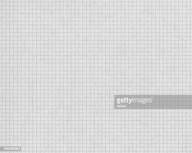 Gráfico de papel blanco con gris líneas