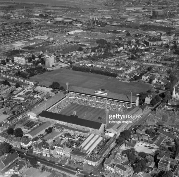 White Hart Lane football ground Tottenham London 1966 Photographed in September 1966 on the occasion of a match between Tottenham Hotspur and...