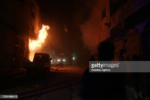 White Helmets conduct an operation the site after PKK , and YPG, launched a missile attack in northern Syriaâs al-Bab district, which had been...
