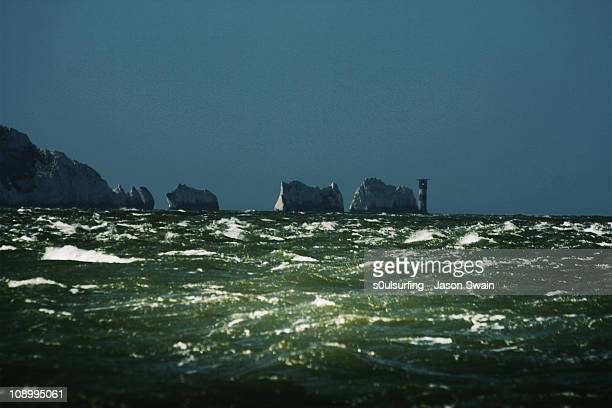 white horses - on the isle of wight - alum bay stock pictures, royalty-free photos & images