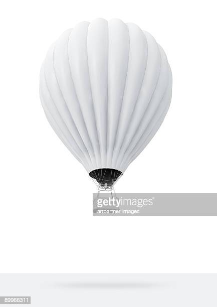 white hot-air balloon - balloon ride stock pictures, royalty-free photos & images