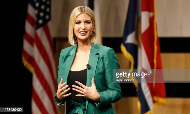 White House advisor Ivanka Trump speaks before the signing of the White Houses Pledge To Americas Workers at El Centro community college on October 3...