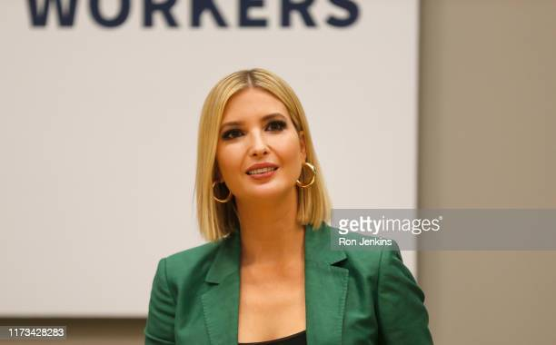 White House advisor Ivanka Trump speaks during a roundtable discussion focusing on assisting American workers for the changing economy at El Centro...