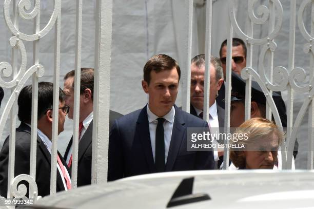 White House advisor Jared Kushner leaves the headquarters of Mexican Presidentelect Andres Manuel Lopez Obrador's party after holding a meeting in...