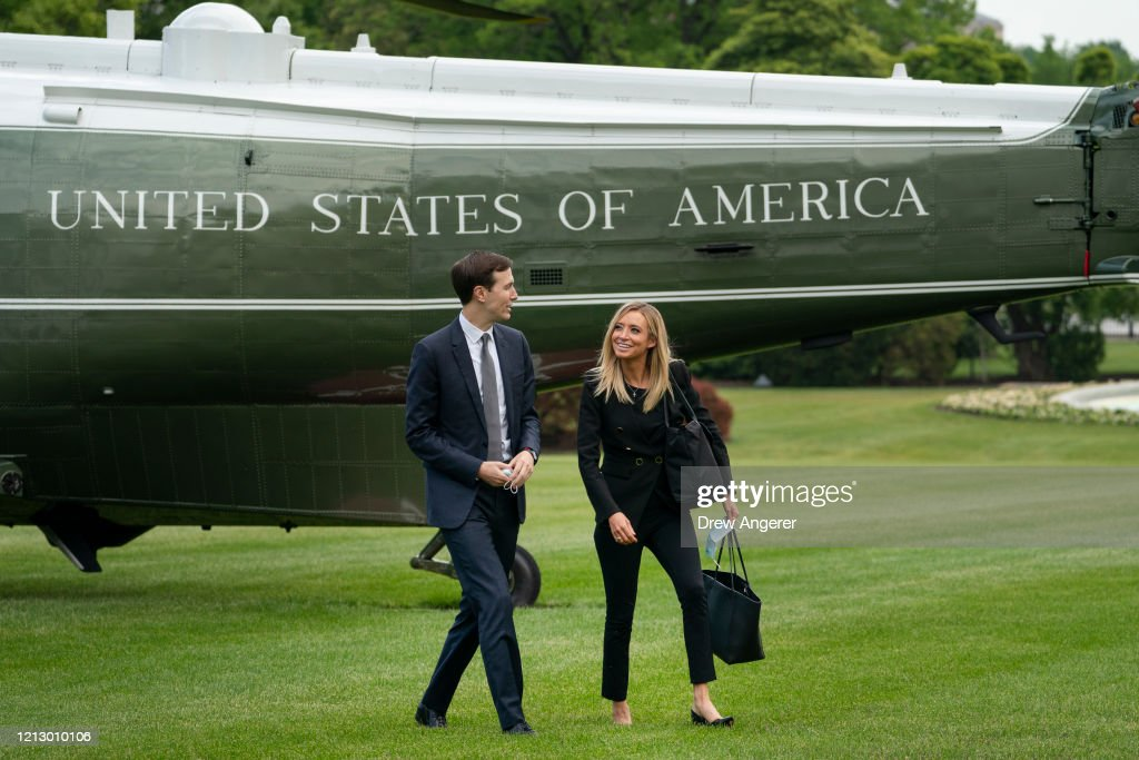 President Trump Arrives Back At White House After Event In Pennsylvania : ニュース写真