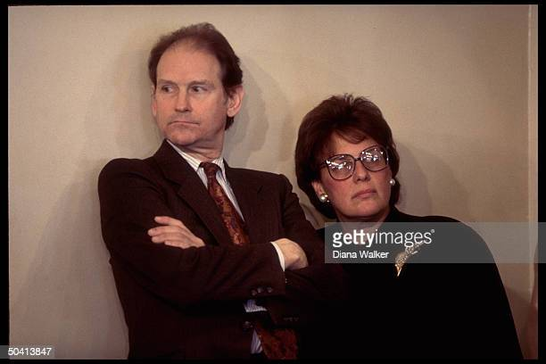 White House aide Harold Ickes & assistant chief of staff Evelyn Lieberman.