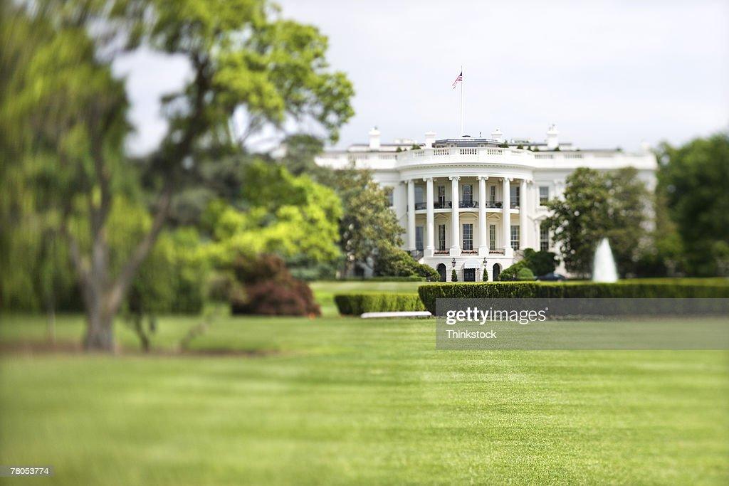 White House and lawn, Washington, DC : Stock Photo