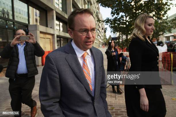 White House Budget Director Mick Mulvaney President Donald Trump's pick for acting director of the Consumer Financial Protection Bureau walks back to...