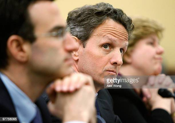 White House Budget Director Peter Orszag US Secretary of the Treasury Timothy Geithner and Chair of the White House Council of Economic Advisers...