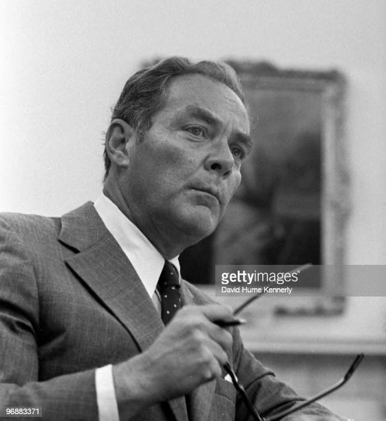 White House Chief of Staff Alexander Haig meets with President Gerald R Ford in the Oval Office at the White House six days after Ford became...