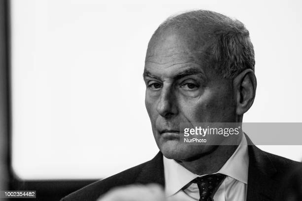White House Chief of Staff John Kelly attends US President Donald Trumps 'The Pledge To America's Workers' event in the East Room of the White House...