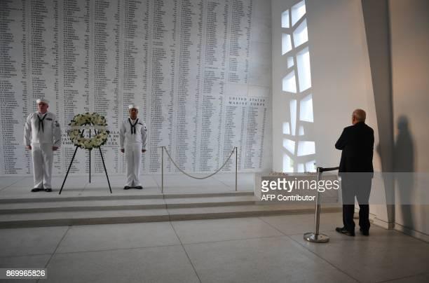 White House Chief of Staff John Kelly visits the USS Arizona Memorial on November 3 at Pearl Harbor in Honolulu Hawaii / AFP PHOTO / JIM WATSON