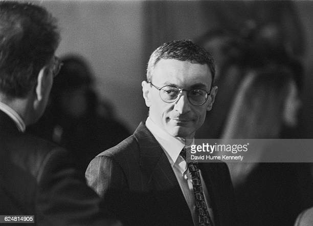 White House Chief of Staff John Podesta at a diplomatic reception for Argentinian President Carlos Menem at the White House on January 11 1999