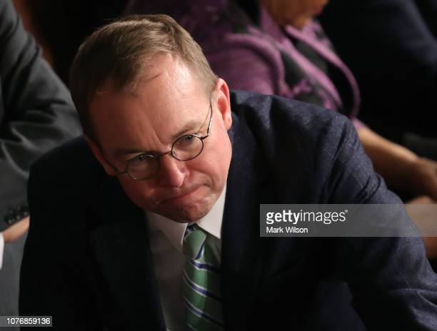 White House Chief of Staff Mick Mulvaney attends the first session of the 116th Congress at the US Capitol January 3 2019 in Washington DC Under the...