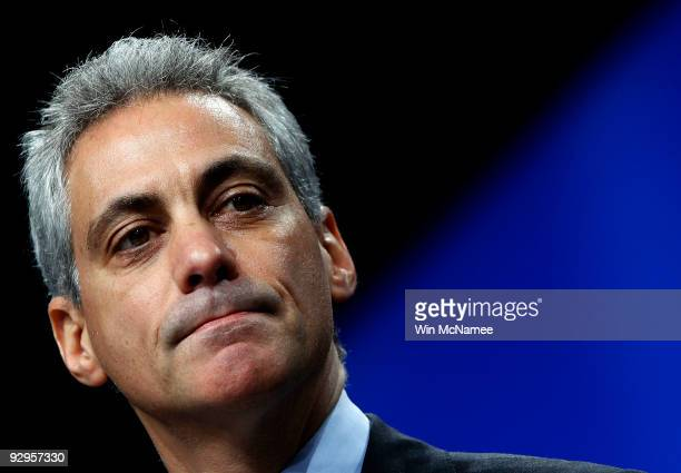 White House Chief of Staff Rahm Emanuel addresses the United Jewish Communities/Jewish Federation of North America during their General Assembly...