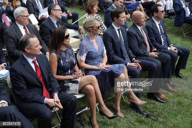 White House Chief of Staff Reince Priebus Deputy National Security Advisor Dina Powell Ivanka Trump Senior Advisor to the President Jared Kushner...