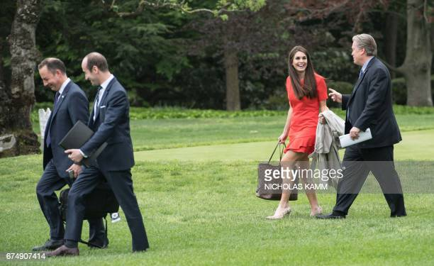 White House Chief of Staff Reince Priebus Senior Advisor Stephen Miller Director of Strategic Communications Hope Hicks and Chief Strategist Steve...