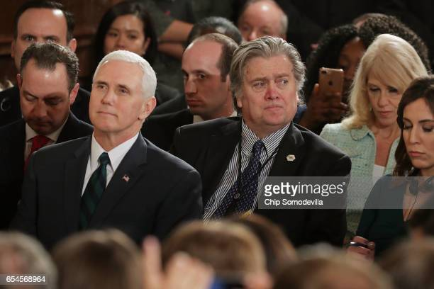 White House Chief of Staff Reince Priebus Vice President Mike Pence Senior Advisor to the President for Policy Stephen Miller White House Chief...
