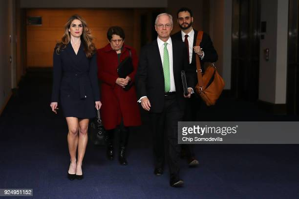 White House Communications Director and presidential advisor Hope Hicks arrives at the U.S. Capitol Visitors Center February 27, 2018 in Washington,...