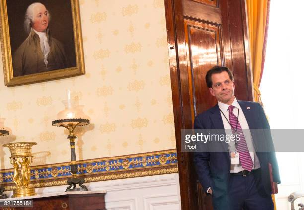White House Communications Director Anthony Scaramucci is seen before the start of a health care related event at The White House on July 24 2017 in...