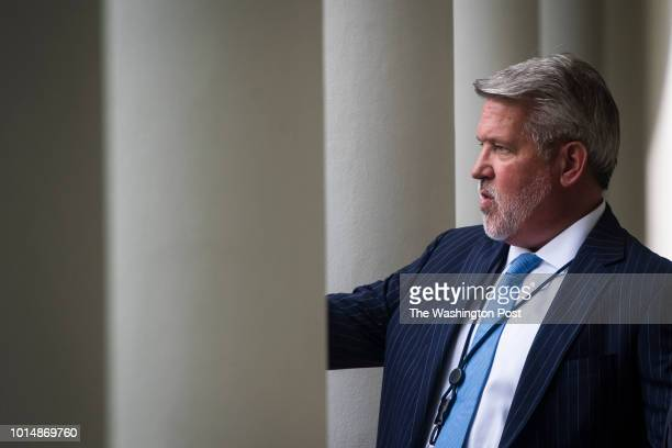White House Communications Director Bill Shine arrives before President Donald J Trump and JeanClaude Juncker President of the European Commission...