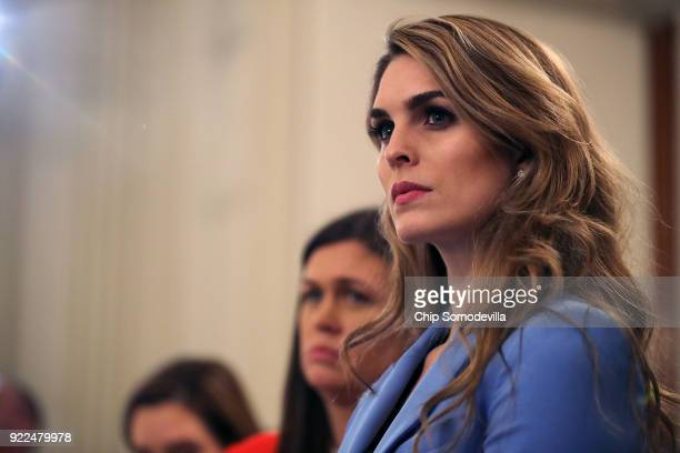 White House Communications Director Hope Hicks attends a listening session hosted by U.S. President Donald Trump with student survivors of school...