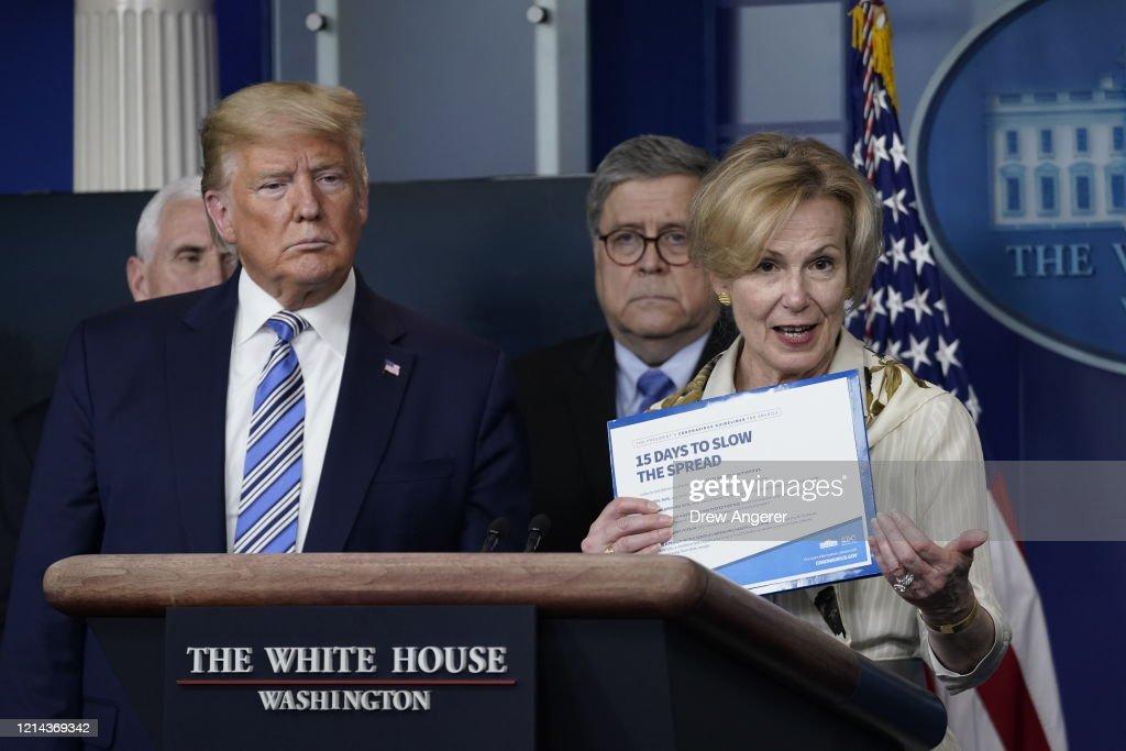 White House Coronavirus Task Force Holds Daily Briefing : News Photo