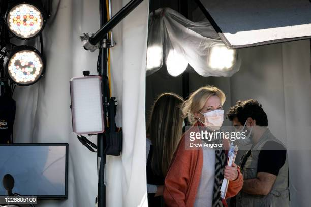 White House coronavirus response coordinator Dr. Deborah Birx departs after doing a television interview outside of the West Wing of the White House...