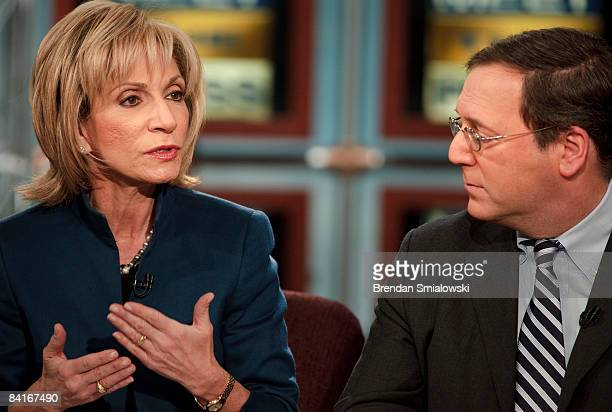 White House correspondent for The New York Times David E Sanger and NBC News Chief Foreign Affairs Correspondent Andrea Mitchell speak host David...