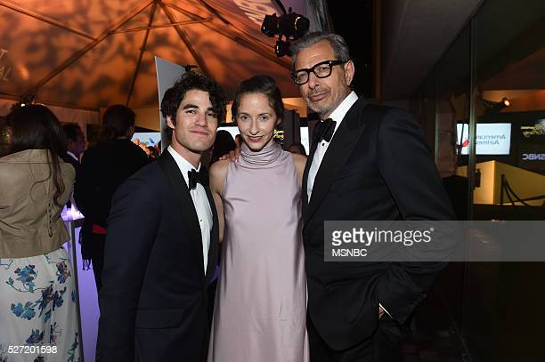 EVENTS White House Correspondents' Dinner MSNBC AfterParty Pictured Actor singer Darren Criss actor Jeff Goldblum and Emilie Livingston